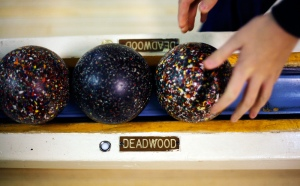 Duckpin bowling at White Oak Duckpin Bowling Lanes in Silver Spring.